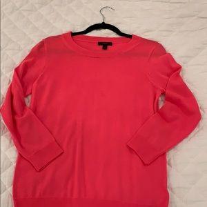 J Crew Tippi Sweater Hot Pink
